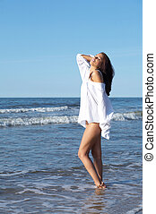 Beautiful Woman at seaside - 20-25 years old Beautiful Woman...