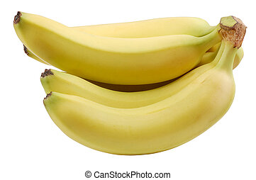 Bananas isolated over white background with clipping-path