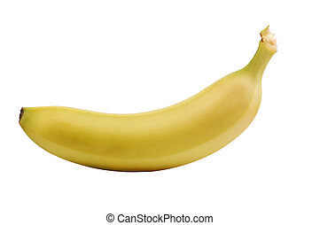 Banana isolated over white background with clipping-path