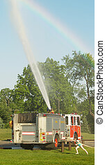 fire truck spray
