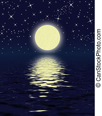 Magic Night: Moon, Stars, Water