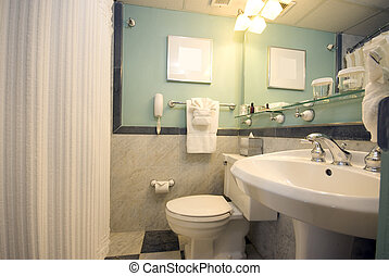 luxury hotel bathroom - bathroom in luxury hotel in latin...
