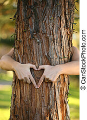 Treehugger - A nature lover environmentalist with arms...