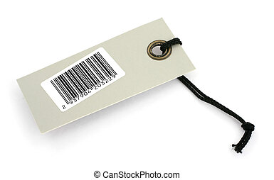 price tag with bar code - close-up of a price tag with bar...