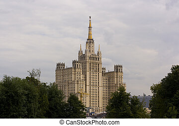 historic building - Big historic building in Moscow with...