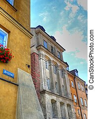 Old city street in Warsaw