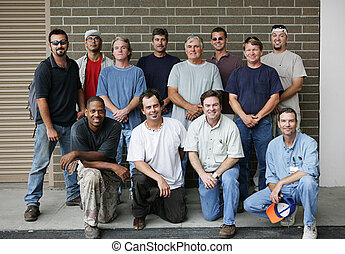 Blue Collar Guys - Technical college class photo of a group...