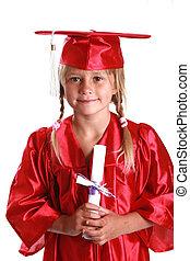 adorable graduation kid - graduating from kindergarten.