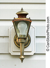Rusty light fixture - Rusty outdoor light fixture