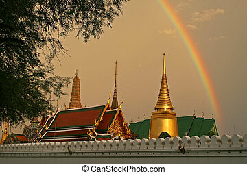 Grand Palace Rainbow - A storm just before sunset produces a...