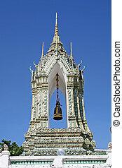 Ornamental Bell - Ornamental bell in Wat Pho, Bangkok,...
