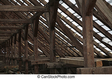 attic - roof inside