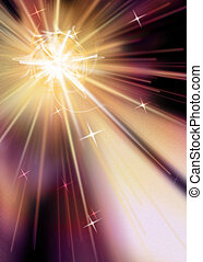 Star Burst - Intense Radiating Starburst Muted Hues on Black...