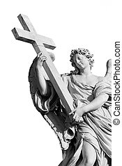 black and white cut out angel - black and white picture of...