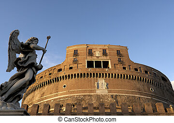 castello - Castel Sant Angelo Rome with angel statue