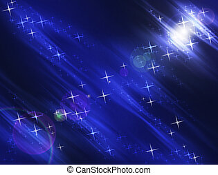 Night Stars Background - Night Stars and Lights Luminescent...