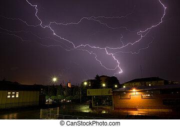 Tunderstorm - Biella in Italy