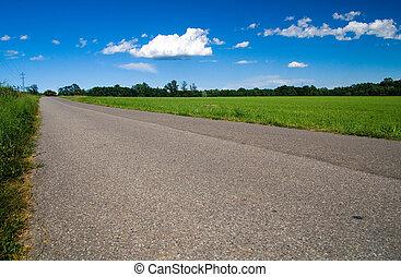 camino, italiano, aldea