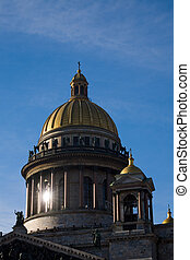 Isaakievsky\\\'s dome - dome of Isaakievsky\\\'s Cathedral,...