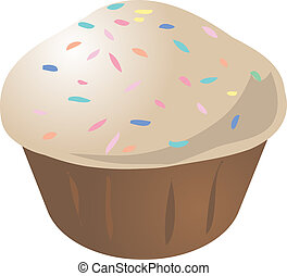 Cupcake muffin - Vanilla with sprinkles cupcake muffin...