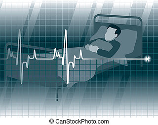 Lifeline3 - Electrocardiogram and a patient