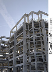 Construction frame - New industrial building construction...