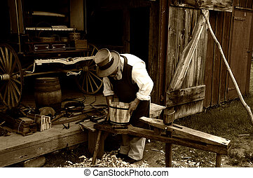 Carpenter - Photo of a Vintage Craftsman / Carpenter -...