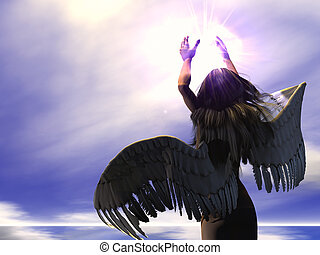 Angel - 01 - An Angel of mercy holds a Divine light