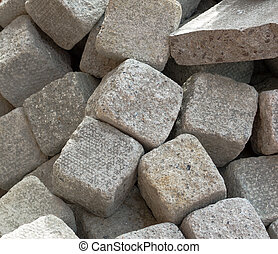 Prepared Stone Blocks - Close up of Stone blocks prepared...