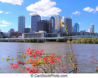 Australian City - Brisbane - A view from Southbank of...