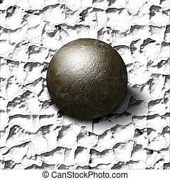 Crush - Metal ball crushes painted surface