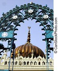 Grill Arch - A grill arch at the famous chota imambara of...