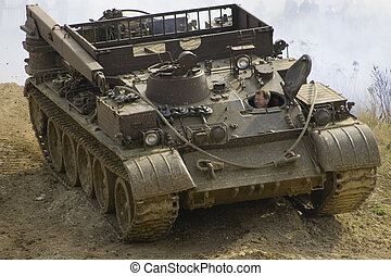 Tank - A tank in the mud