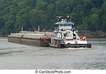 Tugboat and Barge 4 -