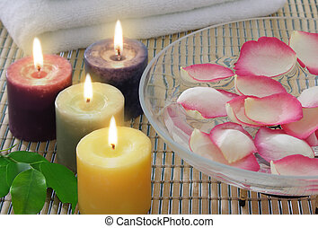 Candles - aromatic candles and other spa objects to make...