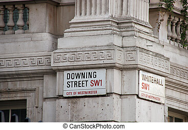 downing street 2 - the corner of Whitehall and Downing...