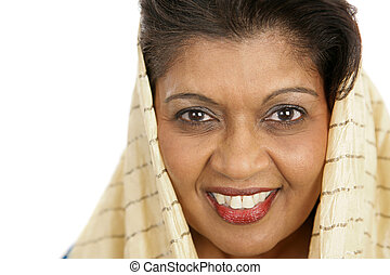 International Beauty - Closeup portrait of a beautiful...