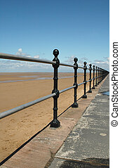 vanishing point - beach railings to vanishing point
