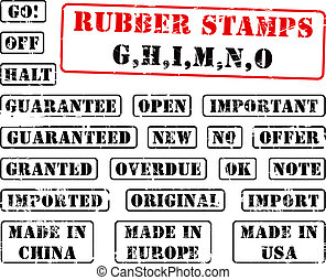 Rubber stamps collection GHIMNO
