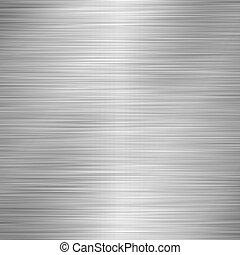 Brushed Aluminum - Illustation of brushed aluminum.