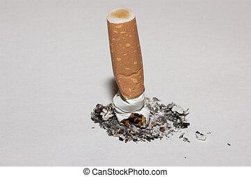 Cigarette butt - Macro of a cigarette butt