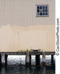 dockyard - old wharehouse on the waterfront