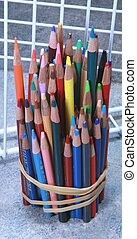 Color Pencils Vertical 01 - Color Pencils Vertical with grid...