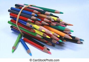 Color Pencils horizontal three-quarter view 01