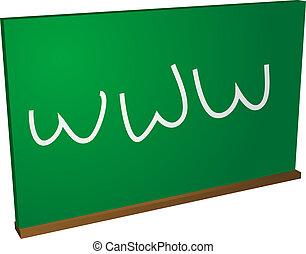 Internet education - Blackboard with world wide web;...