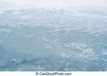 ice-bound lake surface
