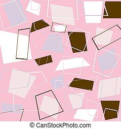 Retro pink squares - Illustration of retro squares in pink,...
