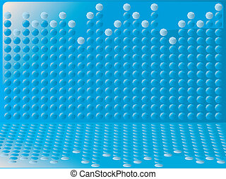blue bubble graph