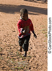 African child - Deprived African child, village near...