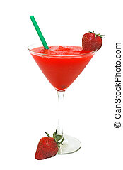 Strawberry Daiquiri - Strawberry daiquiri with strawberries...